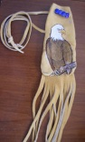 A Bald Eagles Perch - Medium Fringed Pouch