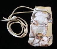 White Buffalo pouch - Small- Kyla Allen