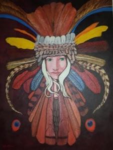 Feather Head by Kyla Seeta Allen